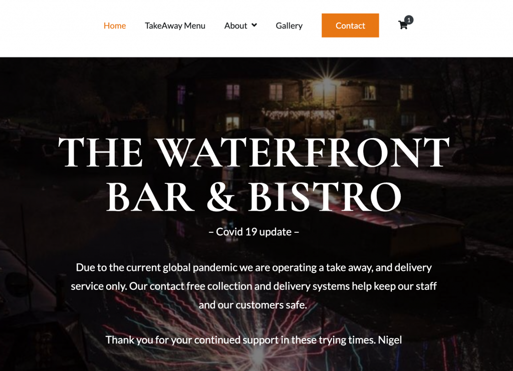 waterfront bar and bistro